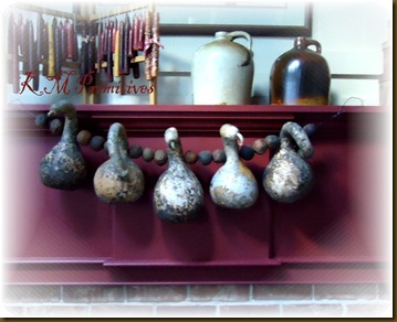 Fireplace gourds