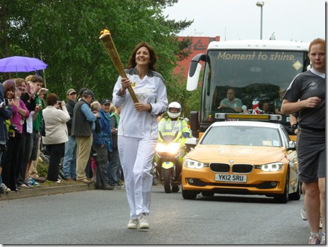 Olympic Torch Relay 2012 - Crewe - torch bearer Crewe Green Road 2