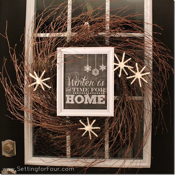 How to make a winter wreath from Setting for Four #wreath #diy