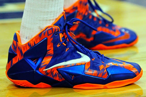 Close Up Nike LeBron 11 Florida Gators Away PE