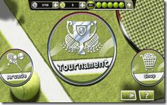 صورة النافذة الرئيسية حيث يمكنك إختيار الجيم الذى تلعبه سواء بطولة تنس أو مواجهة سريعة