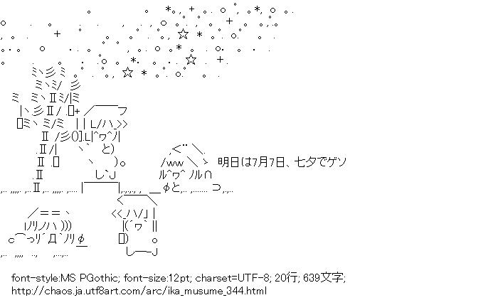 [AA]イカ娘「七夕でゲソ」 (侵略!イカ娘)