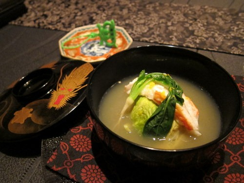 """Matsuba Crab"" fron SANIN in Shabu-shabu style served in the ""Crab Broth"""
