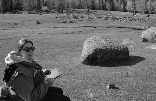 Xinjiang, Baihaba - Vallée & iPad