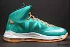nike lebron 10 gr miami dolphins 4 07 Gallery: Nike LeBron X Miami Setting or Dolphins if you Like