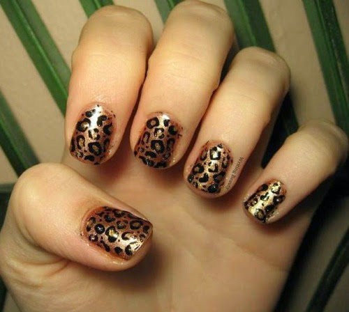Cheetah Print Nail Art