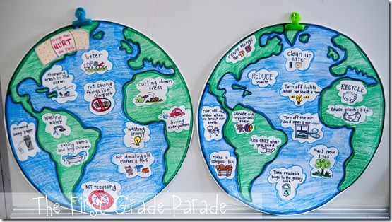 Earth Day Telling Time  a Mothers DayFathers Day Freebie