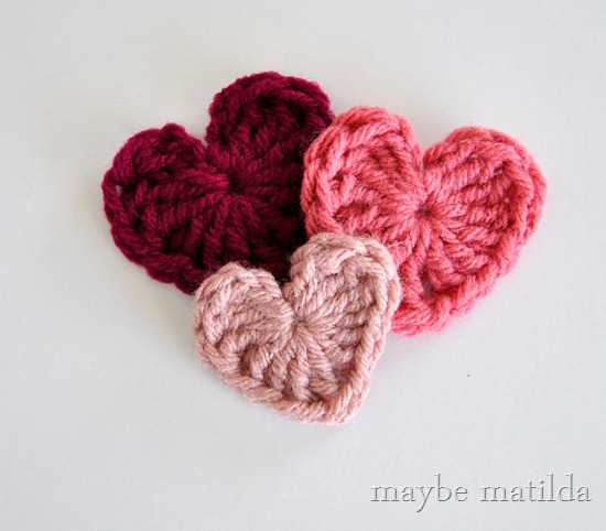 Crochet Valentine Hearts Tutorial