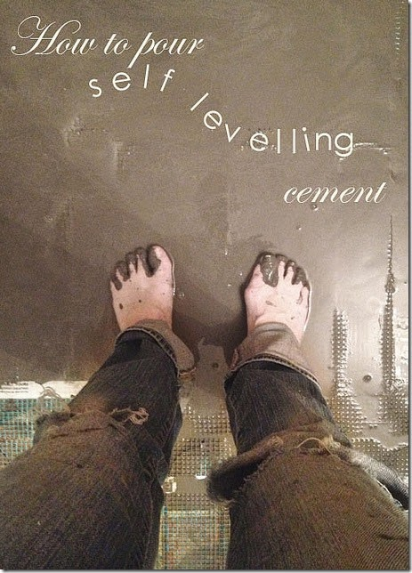how to pour self leveling cement