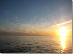 Sunset and Contrail (Small)