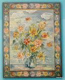 Gobelin 8028, Modern style bouquet, 150x110cm