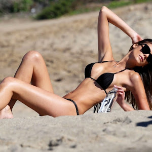 Hethielly Beck in Black Tiny String Bikini  Beautiful SLim  body on Display    Cute   Golden Body