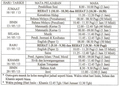 jadual periksa 2013 001