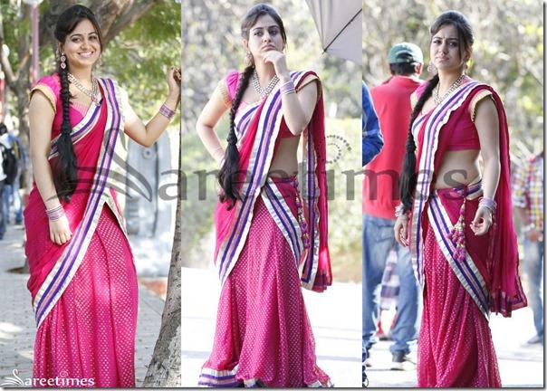 Aksha_Pink_Half_Saree