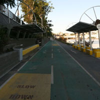 The bikeway along Coronation Drive