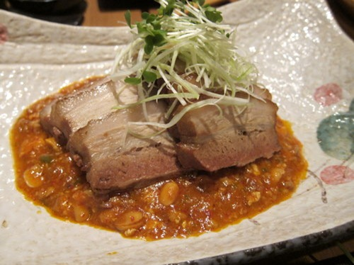 Nibuta - slow cooked pork belly, Korean miso sauce