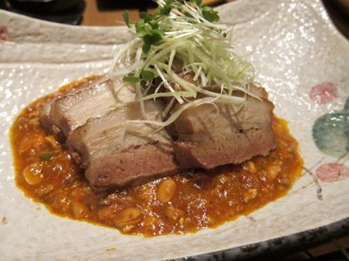 Nibuta - slow cooked pork belly, Korean miso sauce