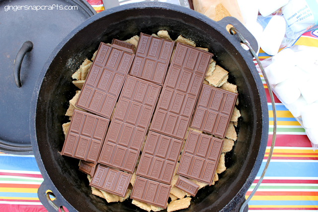 making a smore recipe in a dutch oven #shop