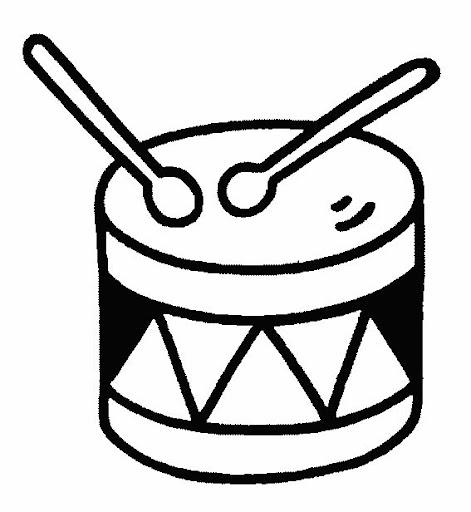 Dibujos para colorear instrumentos musicales navidad