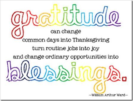 gratitude can...