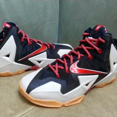 nike lebron 11 gr black white red mango 1 02 Possibly Upcoming New Nike LeBron 11 Mango