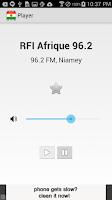 Screenshot of Radio Niger