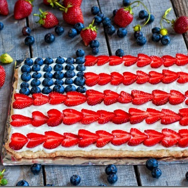 Strawberry Blueberry Flag Tart