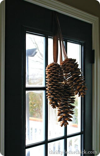 hanging pinecones christmas