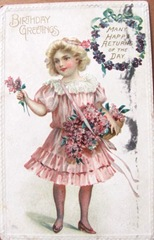 vintage 1910 Happy Birthday postcard