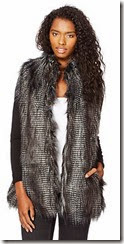 Red Herring Dark Grey Faux Fur Gilet