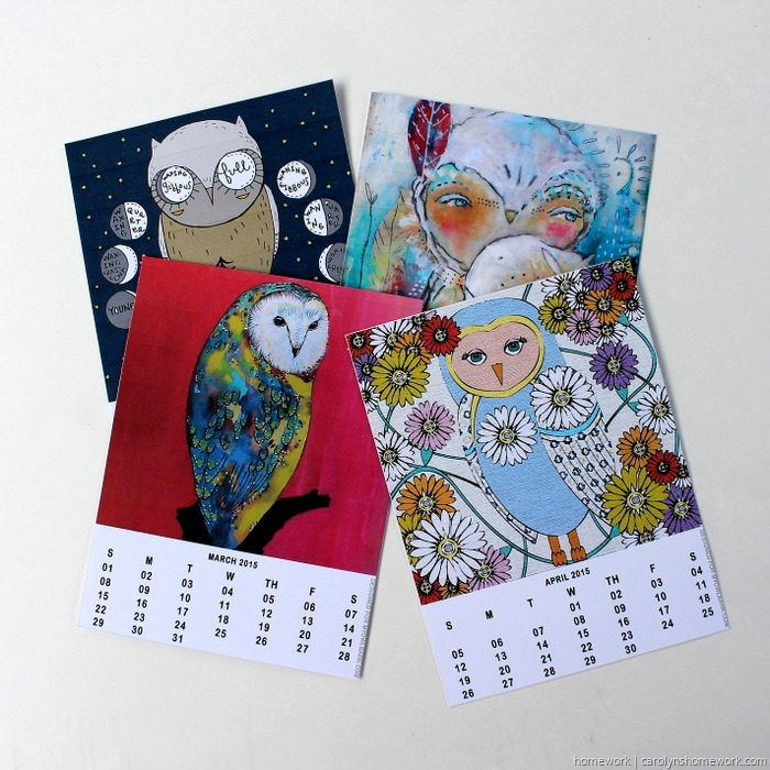 2015 Owl Lovers Calendar via homework (2)