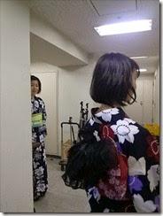 帯遊び 浴衣ファッションショーのお手伝い (3)