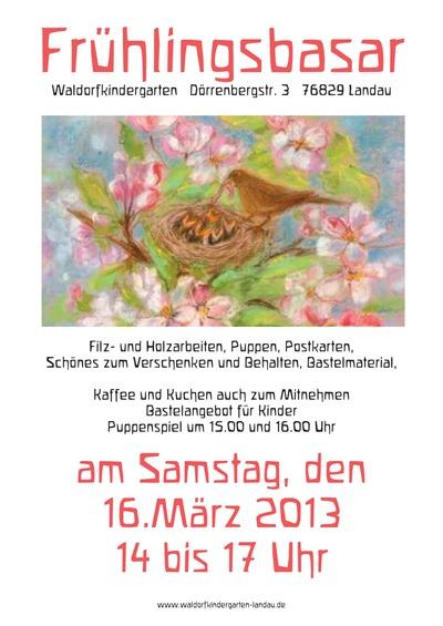 Waldorfkindergarten Frühlingsbasar Plakat