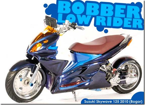 Modified Suzuki Skywave 125 Low Rider
