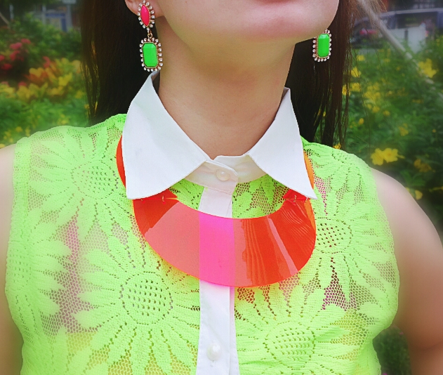 Plastic Neckpiece. PVC Accessories