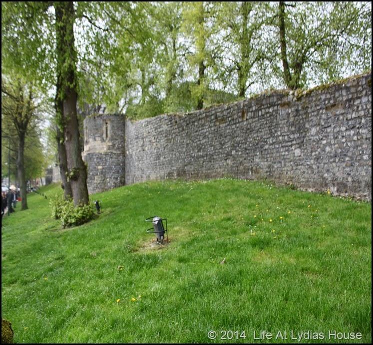 outside city wall