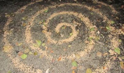 Dank mit Weizen-Spirale