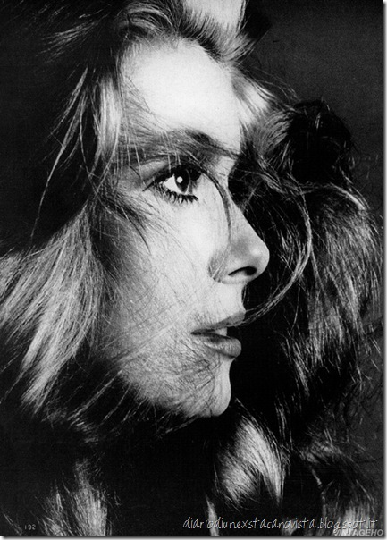 Catherine Deneuve by Richard Avedon, Vogue, December, 1968