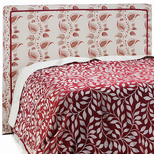 Alexa Hampton Home 100% Cotton Headboard Cover Available in Navy, Neutral and Wine HSN Price: $89.95