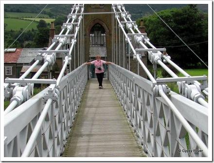 Chainlink bridge over the river Tweed between Melrose & Gattonside. Built 1826.