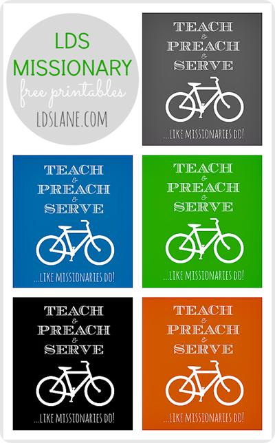 Teach & Preach & Serve ....like missionaries do! Free Printable at LDSlane.com