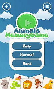 Animals memory game for kids- screenshot thumbnail