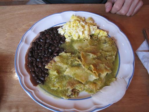 Delicious Chilaquiles in San Cristobal de las Casas, Mexico