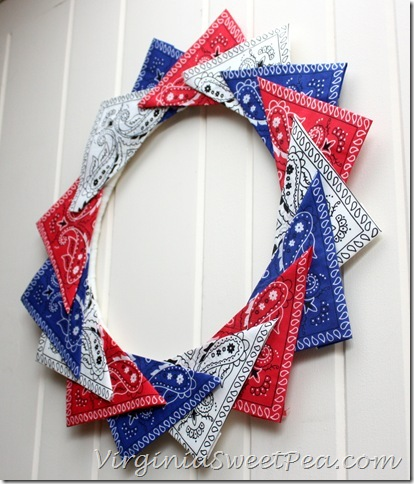 Patriotic Bandana Wreath2