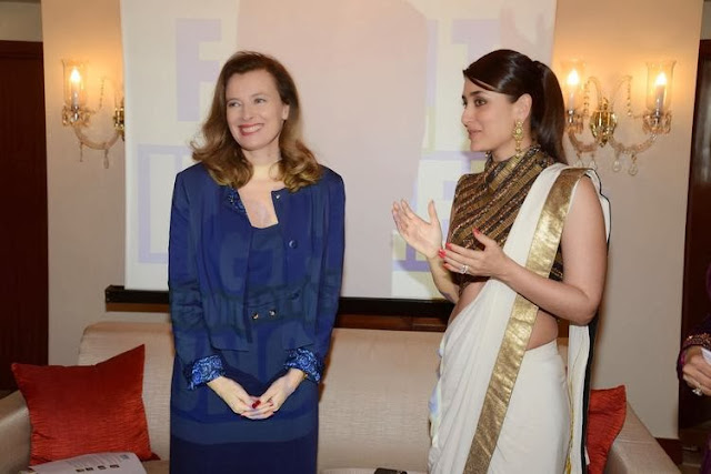 Kareena At French First Lady Valerie Trierweiler's Luncheon