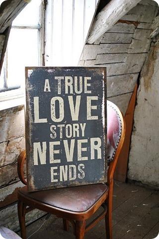 una verdadera historia de amor nunca termina