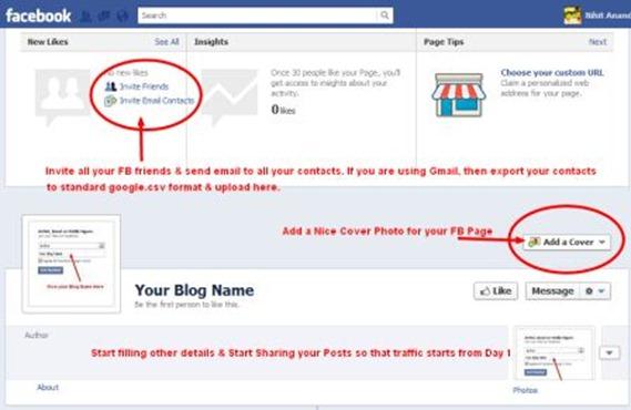 FB Page Admin Area