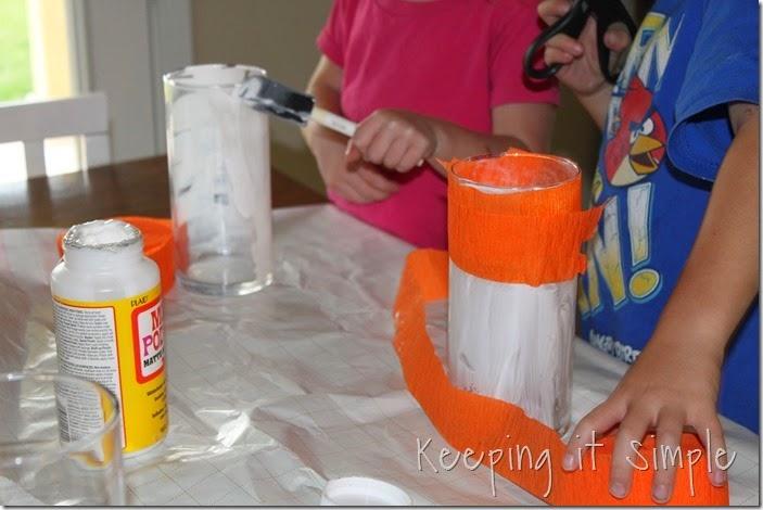 Halloween pumpkin flower vase #kidscraft (3)