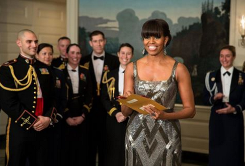 Michelle Obama at Oscars 2013