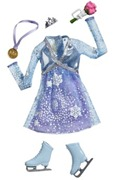 Barbie Complete Looks Ice Skating Doll Fashion Outfit Blue